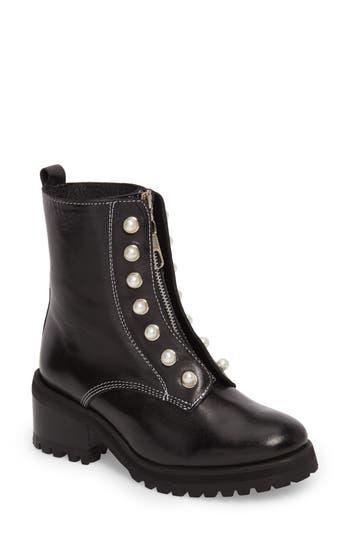 Steve Madden Granite Embellished Zip Boot, Black