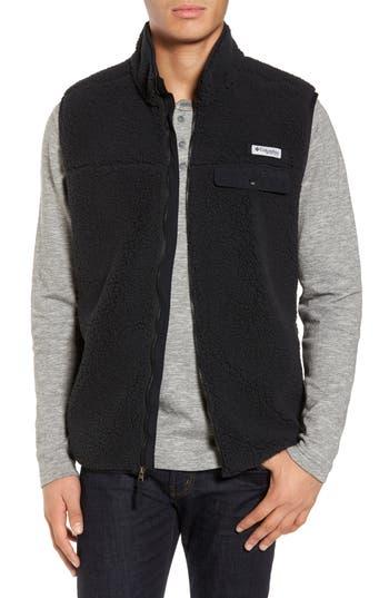 Men's Columbia Sportswear Harborside Heavyweight Fleece Vest, Size Small - Black
