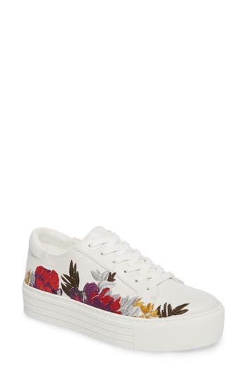 Kenneth Cole New York Abbey Platform Sneaker, White