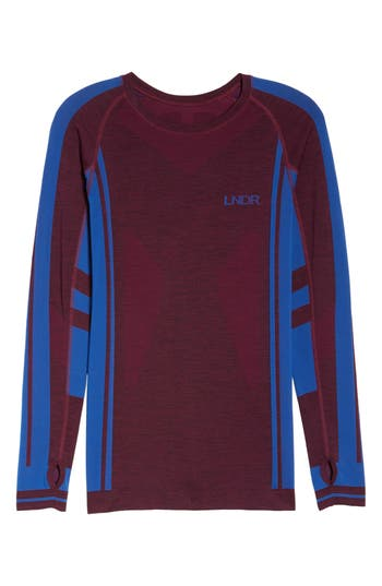 Lndr Colours Long Sleeve Top, Burgundy