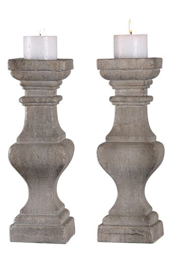 Uttermost Corin Set Of 2 Candleholders, Size One Size - Ivory