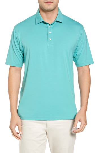 Men's Bobby Jones Liquid Cotton Stretch Jersey Polo, Size Small - Green
