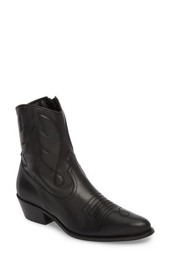 Topshop Arizona Western Boot - Black