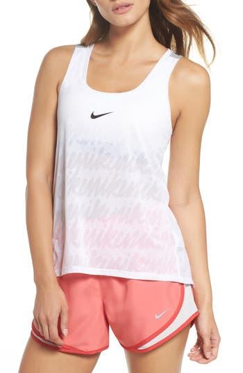 Nike Elastika Dry Tank, White