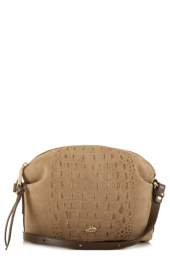 Brahmin Southcast Haley Metallic Croc Embossed Leather Crossbody Bag - Metallic