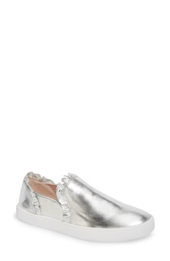 Women's Kate Spade New York Lilly Ruffle Slip-On Sneaker, Size 5 M - Grey