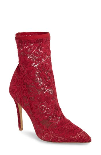 Charles By Charles David Player Sock Bootie, Red