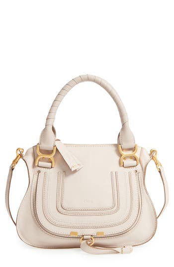 Marcie Small Double Carry Bag - White