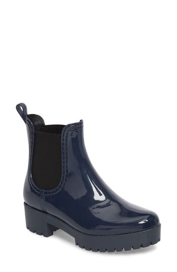 Jeffrey Campbell Cloudy Chelsea Rain Boot, Blue