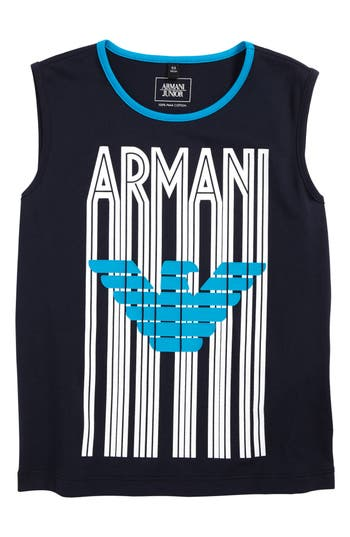 Boys Armani Junior Logo Tank