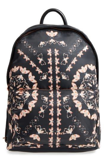 Ted Baker London Eartha Print Backpack - Black