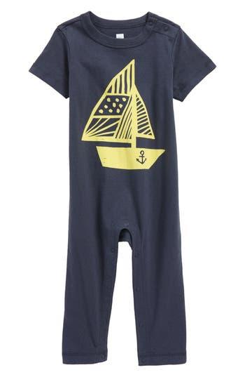 Infant Boys Tea Collection Hey Sailor Graphic Romper