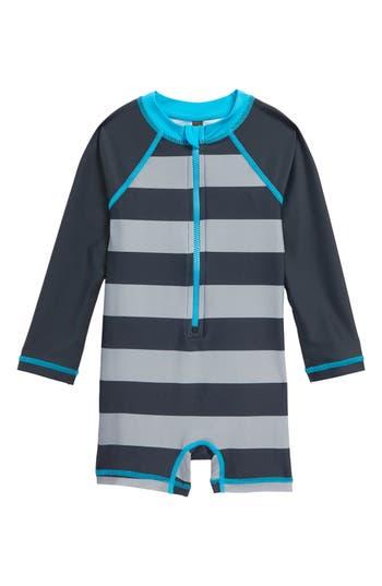 Infant Boys Tea Collection Sandbar OnePiece Rashguard Swimsuit