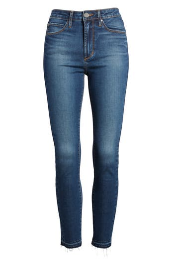 Heather High Waist Crop Skinny Jeans