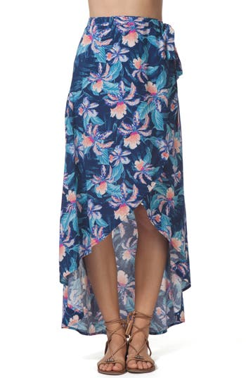 Rip Curl Tropic Tribe Wrap Skirt, Blue