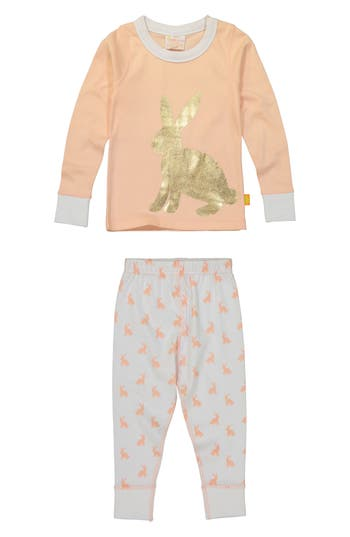 Toddler Girls Masalababy Bunny Hop Fitted TwoPiece Pajamas