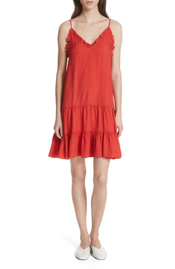 Rebecca Taylor Silk Slipdress, Red