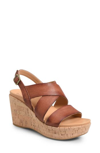 Kork-Ease Ashcroft Wedge Sandal, Brown