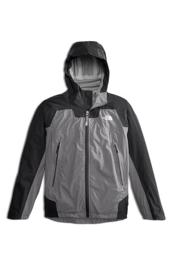 Boys The North Face Allproof Stretch Hooded Rain Jacket Size L  1416  Grey