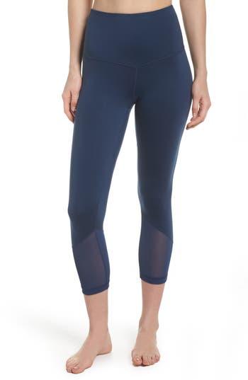 Zella High Waist Gemini Light Crop Leggings, Blue