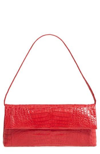 Nancy Gonzalez Gotham Genuine Crocodile Clutch - Red