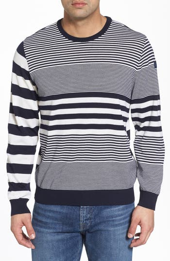 Paul & Shark Stripe Wool Sweater, White