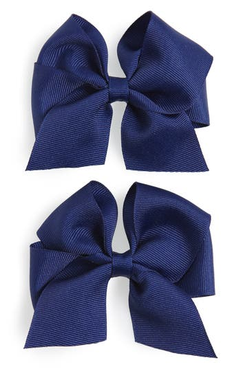 Plh Bows & Laces Bow Clips, Size One Size - Blue