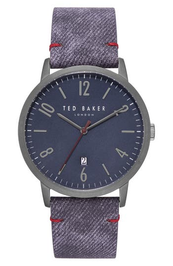 Ted Baker London Daniel Synthetic Strap Watch, 42Mm