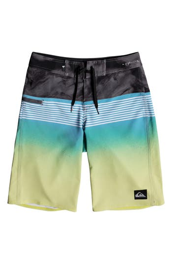 Boys Quiksilver Highline Lava Board Shorts Size 30  Bluegreen