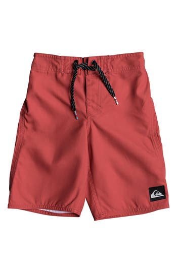 Boys Quiksilver Highline Kaimana Board Shorts Size 4  Red