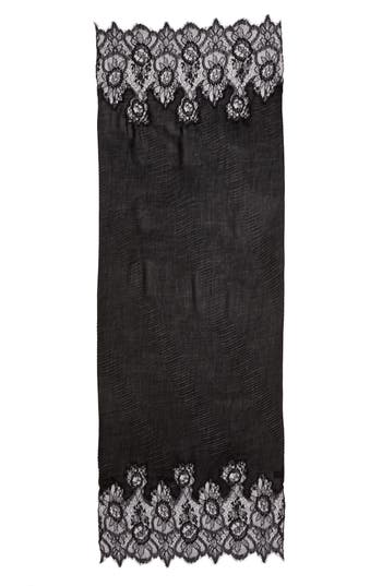 Women's Valentino Cashmere & Wool Wrap, Size One Size - Black