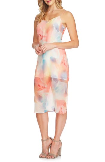Women's Cece Jayme Colorful Vapors Slipdress, Size 0 - White