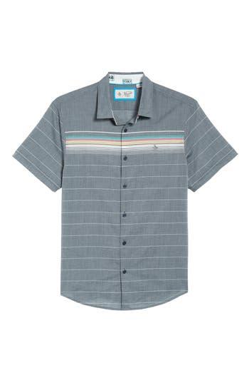 Original Penguin Engineered Stripe Woven Shirt, Blue