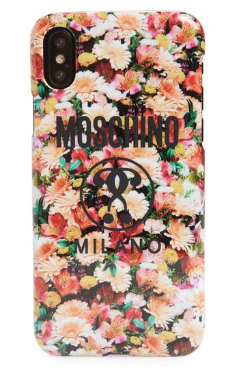 Moschino Floral Print Iphone X Case - Pink