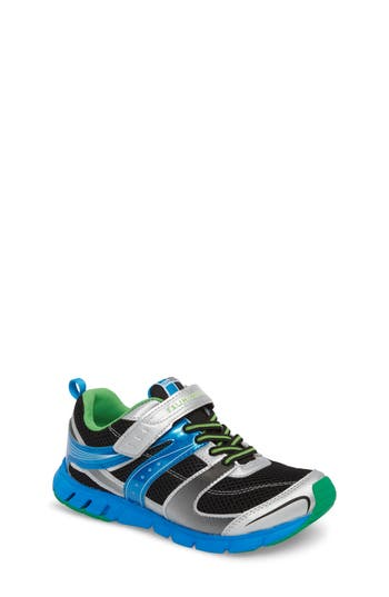 Boys Tsukihoshi Velocity Washable Sneaker Size 3.5 M  Metallic