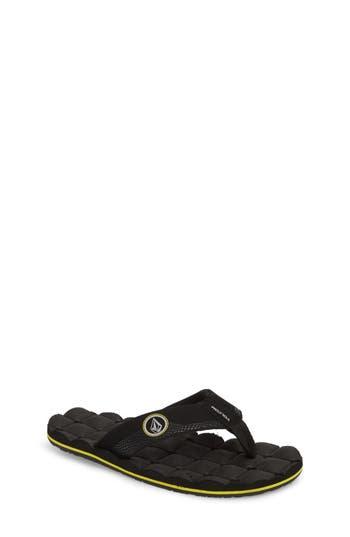 Boys Volcom Recliner Flip Flop Size 4 M  Black