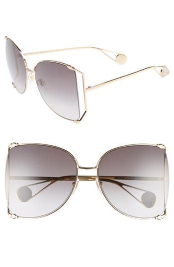 Gucci 63mm Gradient Oversize Butterfly Sunglasses