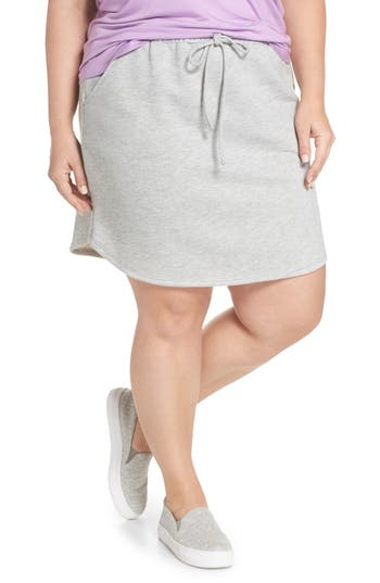Plus Size Gibson X Living In Yellow Cassidy French Terry Skirt, Grey