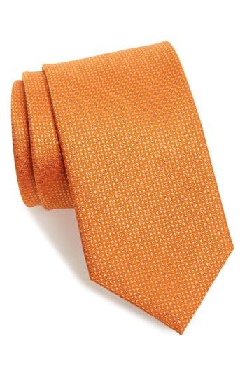 Men's David Donahue Solid Silk Tie, Size Regular - Blue