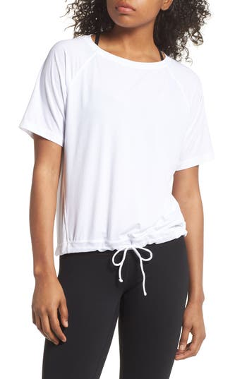 Zella Square Up Boxy Tee, White