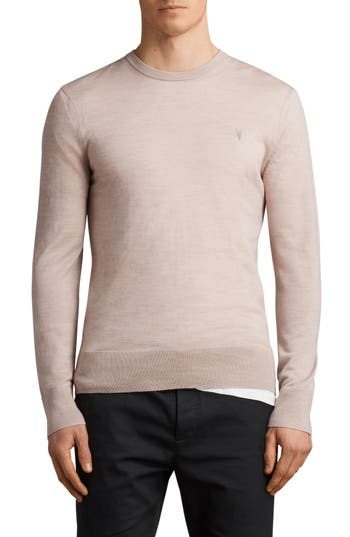 Allsaints Mode Slim Fit Merino Wool Sweater, Pink
