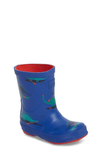 Boys Joules Print Welly Rain Boot