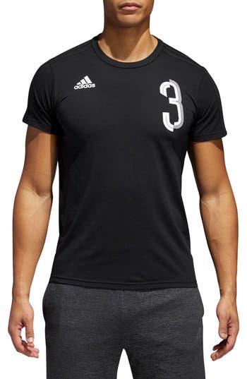 Adidas Soccer Slim Fit T-Shirt, Black