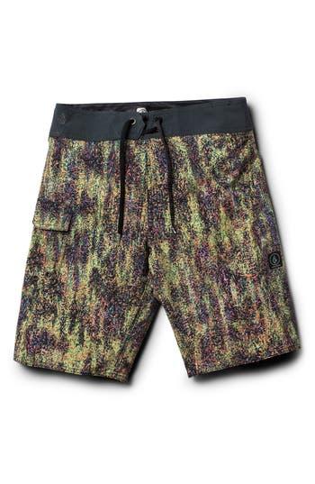 Boys Volcom Plasm Mod Board Shorts Size 22  Grey