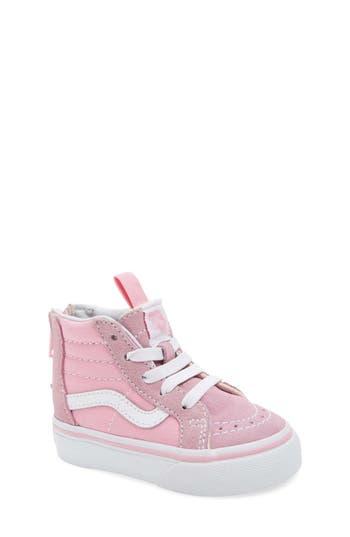 Toddler Girls Vans Sk8Hi Zip Sneaker Size 9 M  Pink