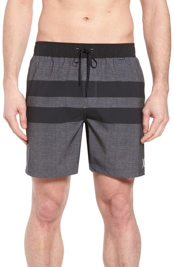 Hurley Phantom Blackball Beater Swim Trunks, Black