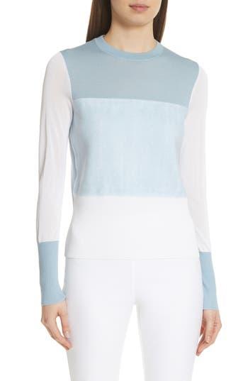 Rag & Bone Marissa Colorblock Merino Wool Sweater, Blue
