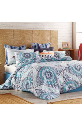 Hang Ten Surfboard Medallion Comforter  Sham Set