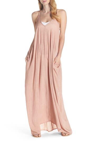 Elan V-Back Cover-Up Maxi Dress, Pink