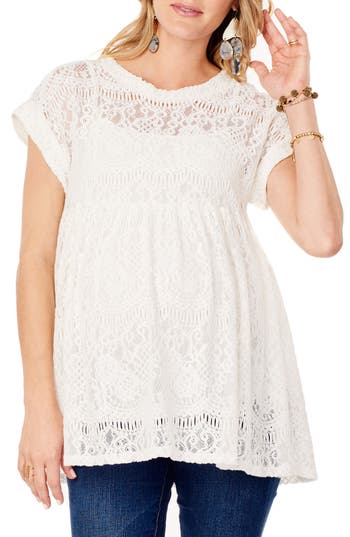 Ingrid & Isabel® Lace Maternity Swing Top